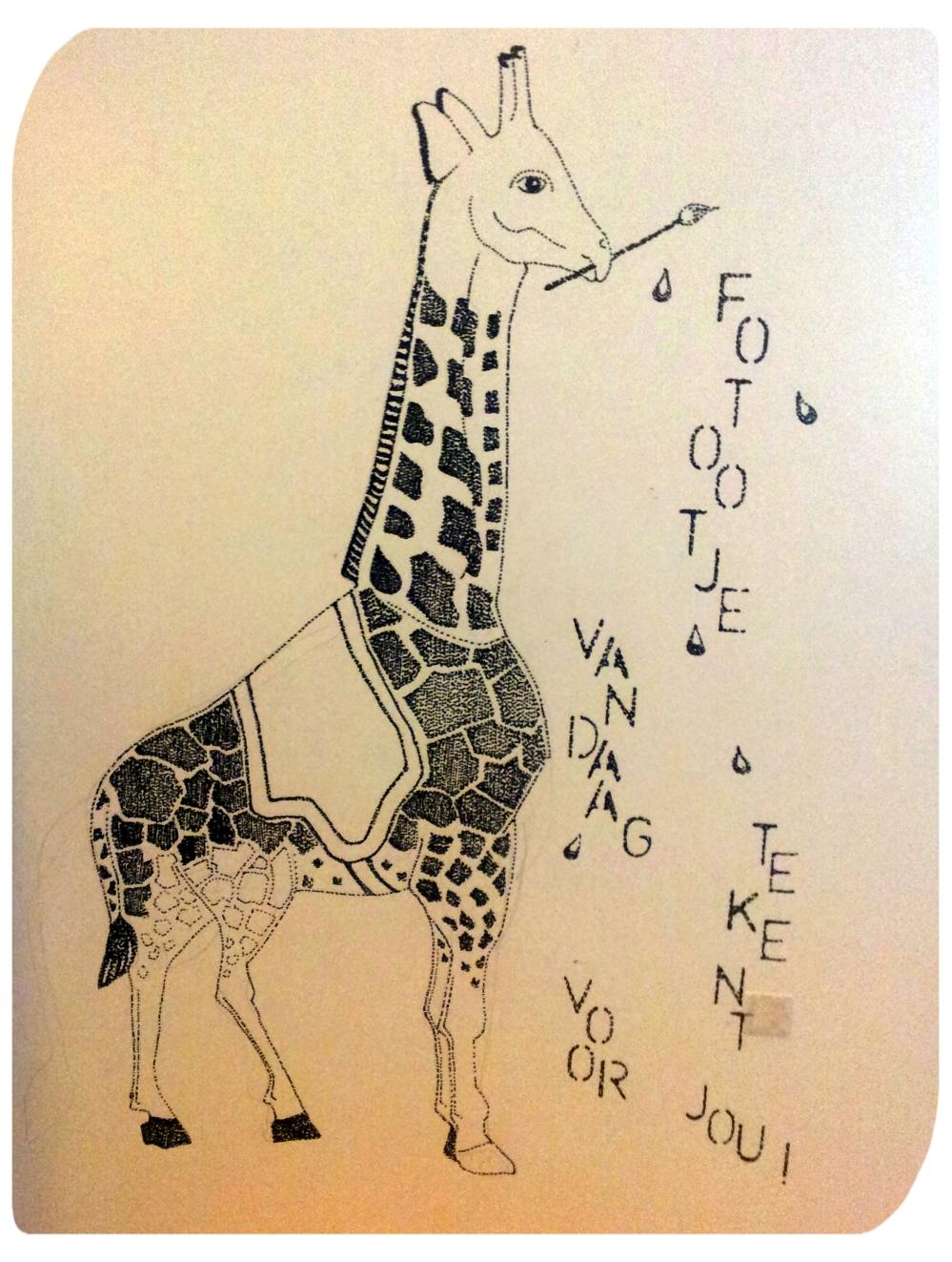 Fotootje Vandaag strooit tekeningen.