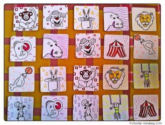 Voor Zaanse Zolder maakte ik geen gewone tekening maar 22 mini-tekeningetjes, een memoryspel.