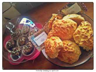 Scones en taartjes