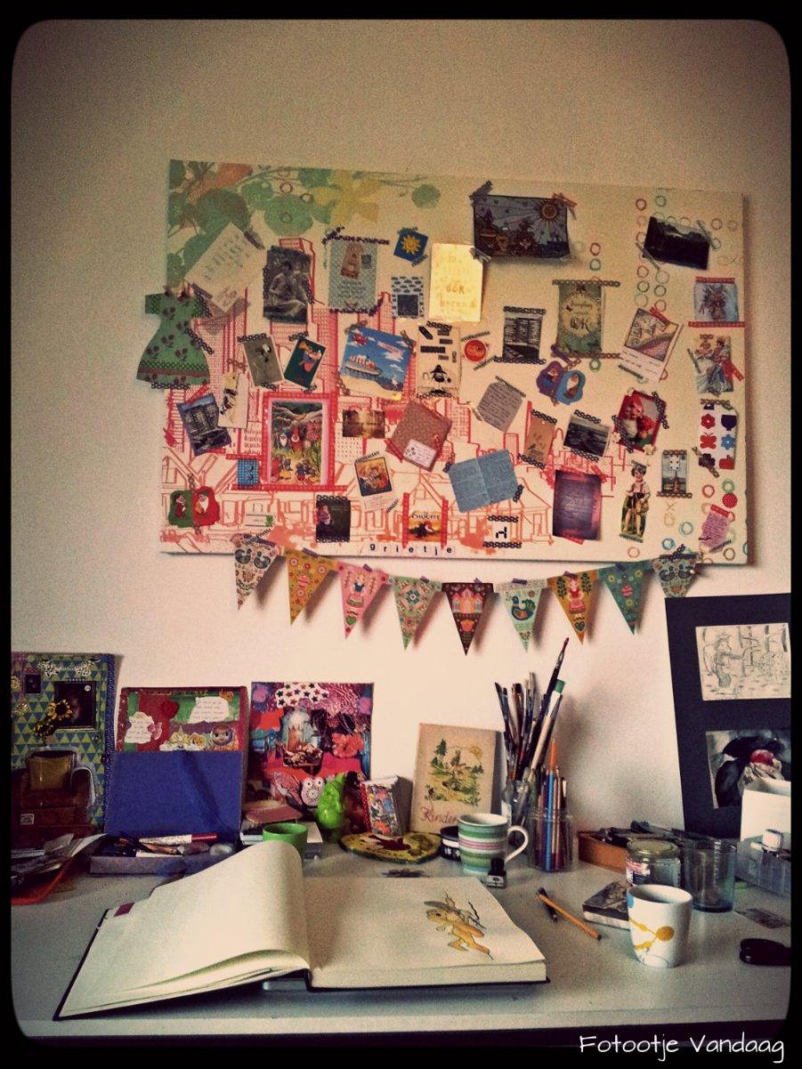 Mijn bureau en het inspiratiebord
