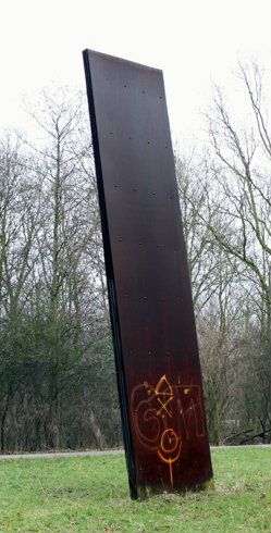 graffiti in het landschap
