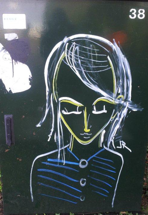 graffiti vrouw