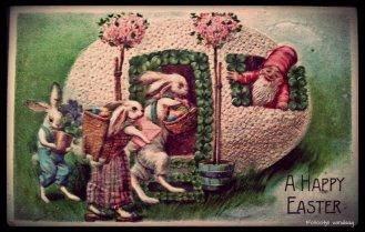 Easter Greetings, Amerikaanse paaskaart uit 1908