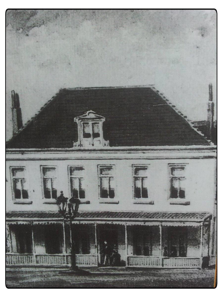 het gebouw waar ik opgroeide, ansicht uit 1835