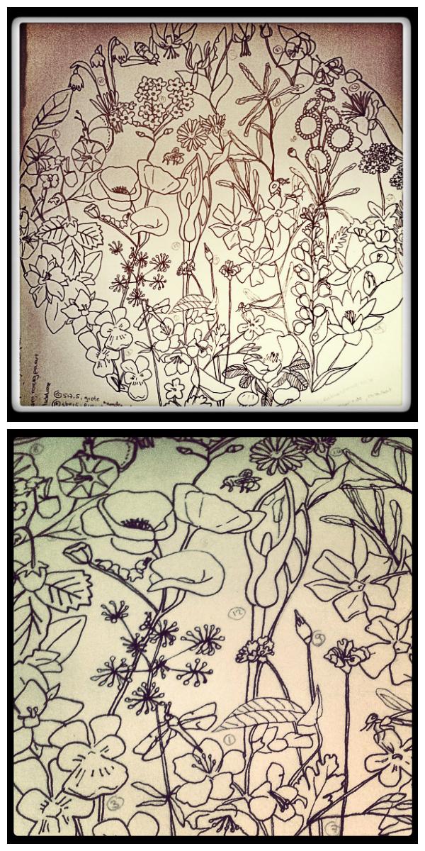 collage tekeningen