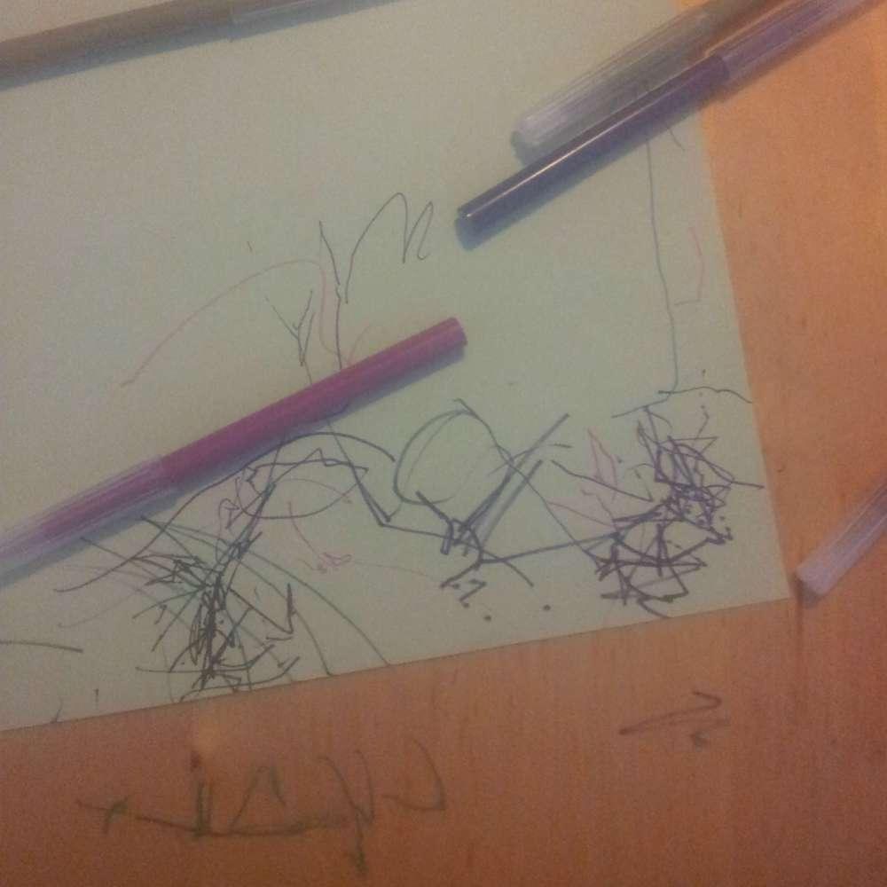 tekening peutermeisje