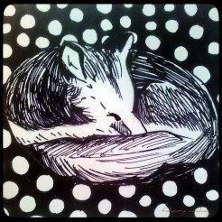 slapende vos