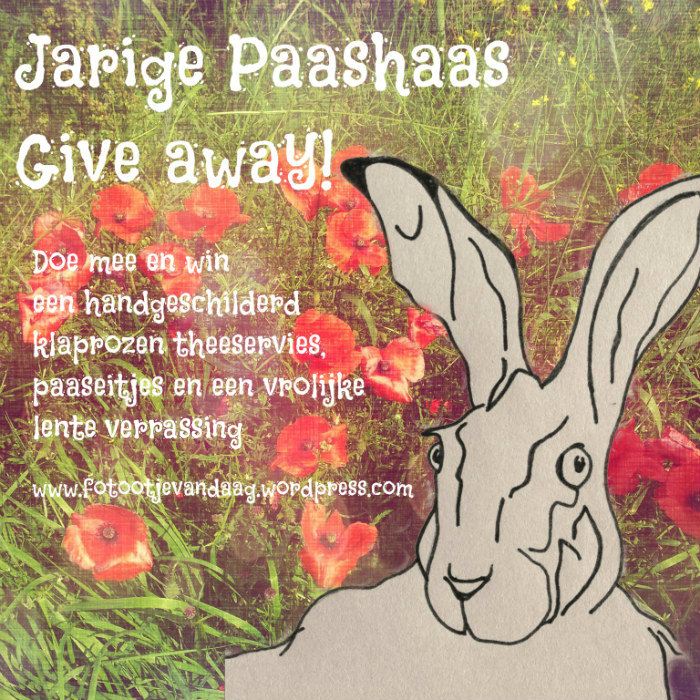 jarige paashaas give away