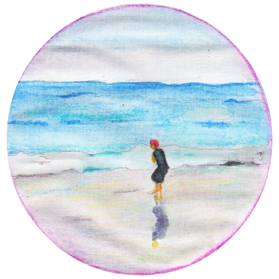 jongen in zee klein