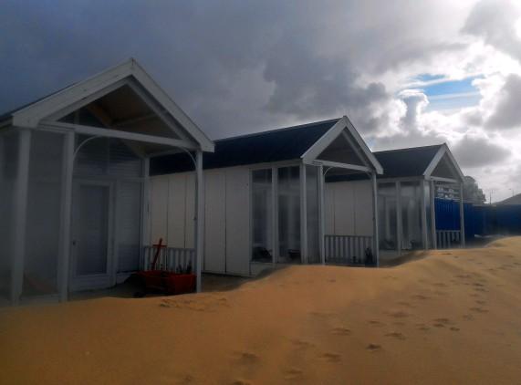 Strandhuisje in Katwijk, foto door Eva