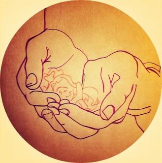 Deze tekening tekende ik in het kader van de Geefmaand.
