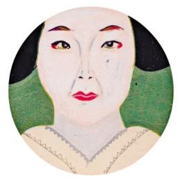 Geisha, agenda schets, 3 x 3cm