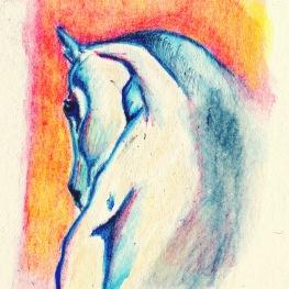 Paard, 3 x 4 cm.