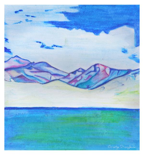 blauwe bergen